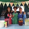 Deliciously Dotty kelly green pinny in action on our beautiful customers