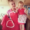 Deliciously Dotty Retro Red Sweetheart in action on our beautiful customers