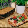 CauliCrust's Tomato and Red Pepper pizza base used for a delicious cauliflower pizza