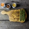 Rustic Olive Wood Cheese Board With Handle