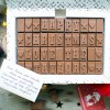 christmas chocolate card