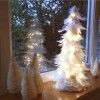 White Feather Christmas Tree & Lights Christmas Decoration