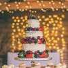 Naked Wedding Cake. Image by Rob Tarren Photography