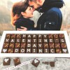 Personalised Happy Valentines Day Chocolate Box with Name