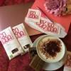 COCOA Coconut milk chocolate with cherries