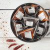 International Chilli Collection with 7 Chillies, Storage Tin & Handmade Silk Sari Wrap
