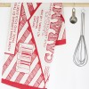 Caramel Wafer Tea Towel in distinctive red and cream