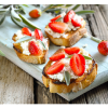 Goat's cheese ciabatta and strawberries