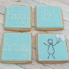 Happy 18th Birthday Balloon Cookie Gift
