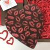 Large Chocolate Heart in Dark Chocolate with Kiss Design