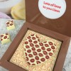 Personalised Message Chocolates with Valentines heart