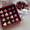 16 Chocolate packed with Raspberry, Strawberry, Blond, 'Milky' Chocolate