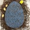 Large Personalised Dark Chocolate Easter Egg with Granite Design