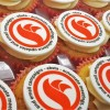 Frosted Cupcakes with Logo