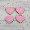Embossed heart wedding favour cookies