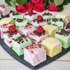 Marshmallow Luxury Gift Box (Selection of 6 flavours, Raspberry, Lemon, Coconut, Pistachio, Mint, Rosewater)