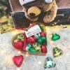 Heart Box of 20 Foiled Handmade Solid Chocolate Hearts