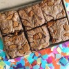 Vegan Lotus Biscoff Brownies