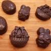 Easter design raw chocolates