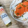 "Carrot smoked ""salmon"" and smoked Scottish seaweed infused oil"