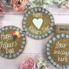 Heart Design Mothers Day Giant Chocolate Chip Cookie Card
