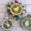 Personalised Easter Egg Giant Chocolate Chip Cookie Card