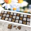 Cocoapod chocolate mosaic daisies bees gift