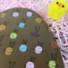 Large Chocolate Easter Egg in White Chocolate with bunny Design