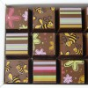 Cocoapod chocolate mosaic flowers bees gift