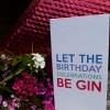 Raspberry Gin on open card