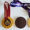 Personalised Gifts Large Organic Dark Chocolate Medals with Caramel Filling (Vegan, Soya & Gluten Free)
