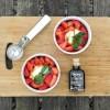 Demijohn's 25 Year Old Balsamic Vinegar on fresh strawberries, yum!
