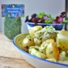 New potatoes with Sea Lettuce seaweed