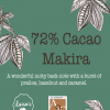 Vegan Chocolate Bars 72% Makira / Vegan & No Refined Sugar