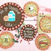 Valentines Kissing Emoji Giant Chocolate Chip Cookie Card