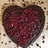 Vegan Valentine Heart Brownie