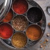 African & Middle Eastern Spice Tin with 9 Spices / Spice Blends and Handmade Silk Cover