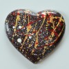 Large dark chocolate hert with toffee and hazelnut filling