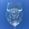 Highland cow wine glass