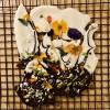 Floral Chocolate Slate