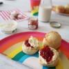 Cream tea with Rainbow design