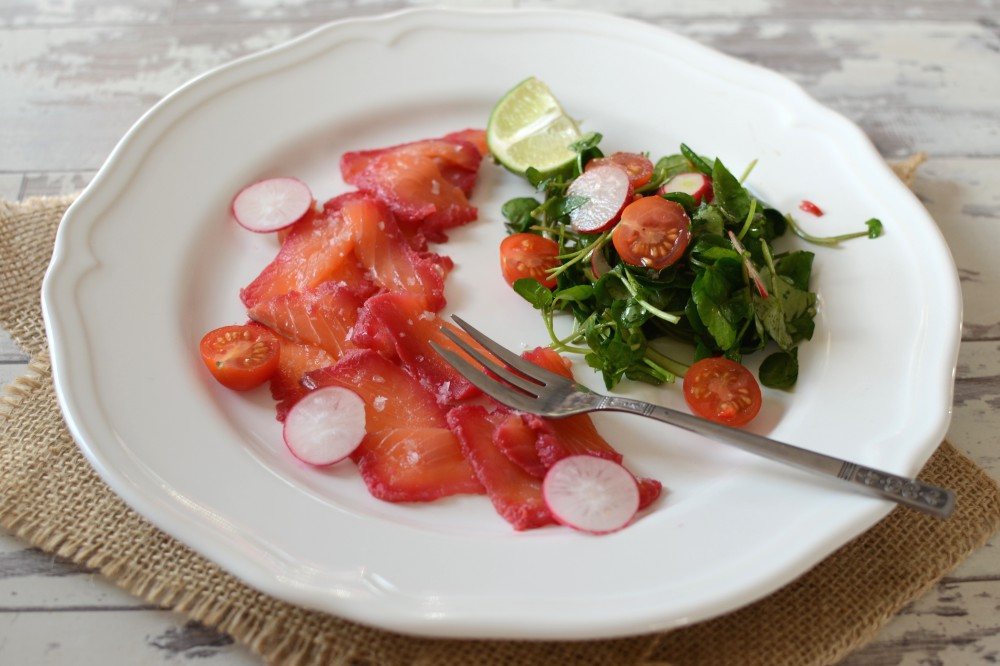 Beetroot and Rum Home-Cured Salmon