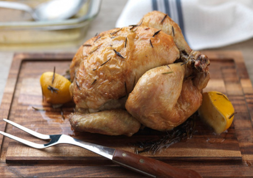 Chicken with Roast Onion and Thyme Gravy