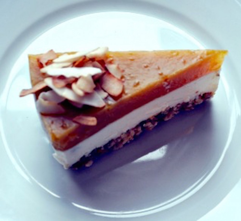 Tropical Tiger Nut no-cheese Cheesecake