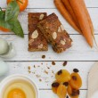 Apricot, Almond & Carrot Cake Slices