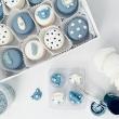 Blue Baby Shower Macarons