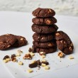 Chocolate and Walnut Cookie Stack