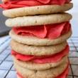Lychee & Raspberry Cookie Sandwiches