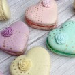 Pastel colour macaron cookie, Mother's Day heart macaron cookie gift box