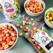 Gourmet popcorn snack bag section
